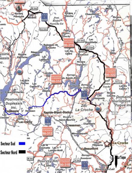 Chemins secteur Sud Nord